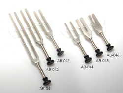 Tuning forks for Aurists pattern Lucae with foot